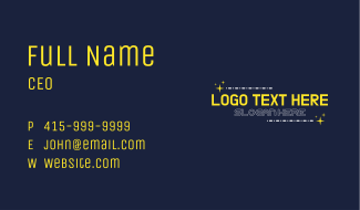 Space Astronomy Text Business Card