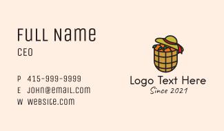 Orange Farm Basket Business Card