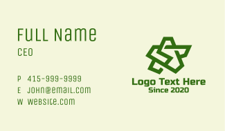 Green Army Star  Business Card