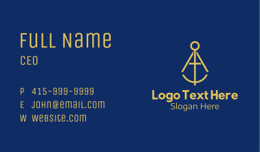 Gold Geometry Compass  Business Card