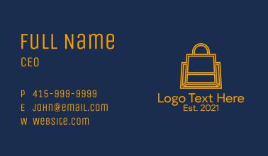 Online Shopping Bag  Business Card