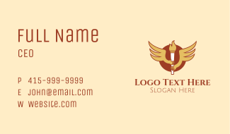 Torch Flame Wings  Business Card