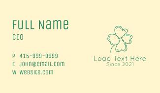 Clover Leaf Doodle Business Card