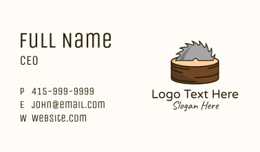 Saw Blade Trunk Business Card