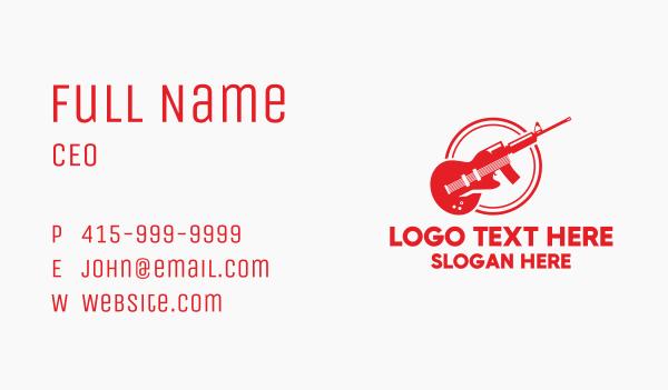 Guitar Rifle Business Card