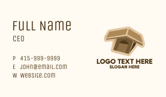 Brown Dog House  Business Card