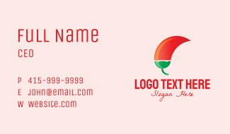Spicy Chili Pepper Business Card