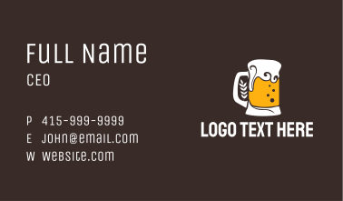 Pattern Beer Glass  Business Card