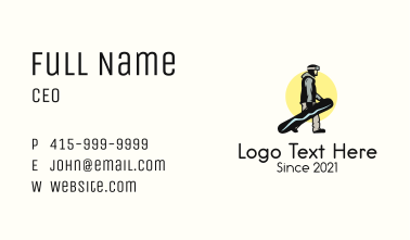 Sunset Snowboarder Guy Business Card