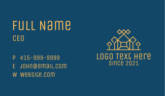 Orange Suburb House  Business Card