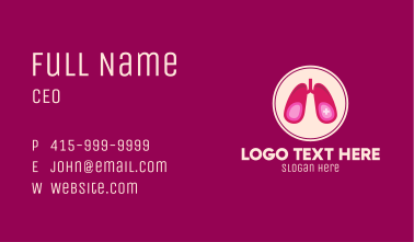 Medical Respiratory Lungs Business Card