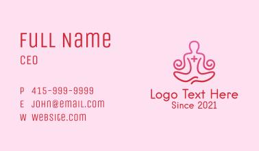 Yoga Meditation Wellness Business Card