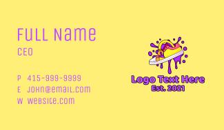 Artistic Shoe Design Business Card