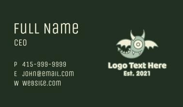 Phantom Monster Mascot Business Card