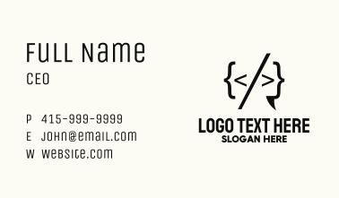 Coding Language Business Card