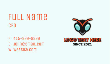 Wasp Pest Control  Business Card