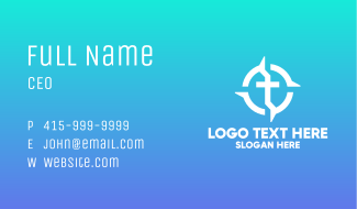 Cross Religion Direction Business Card