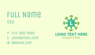 Virus Leaves Lettermark Business Card