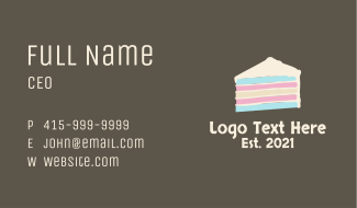 Multicolor Layered Cake Business Card