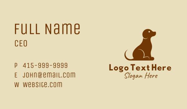 dog trainer - Pet Dog Training  Business card horizontal design