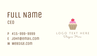 Cherry Cupcake  Business Card