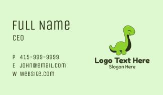 Green Baby Dinosaur Business Card