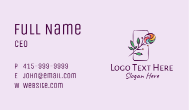 Natural Colorful Candy Plant Business Card