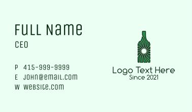 Green Wine Bottle  Business Card