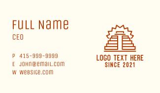 Ancient Mayan Pyramid Business Card