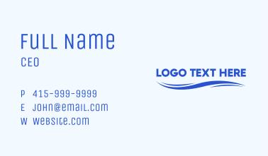 Ocean Wave Wordmark Business Card