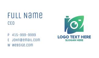 Green Natural Optical Camera Business Card
