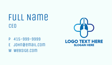 Medical Lung Doctor Business Card