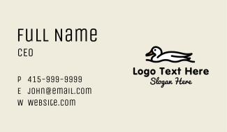 White Duck Lake Business Card