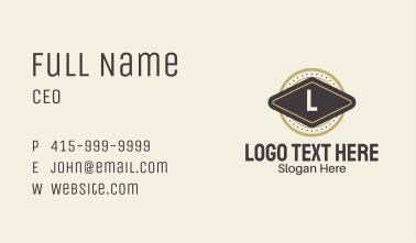Vintage Circle Badge  Business Card