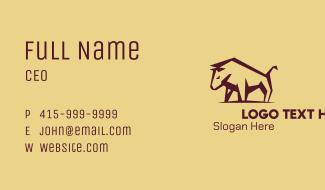 Brown Bullfighter Business Card