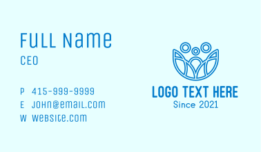 Minimalist Family Care  Business Card