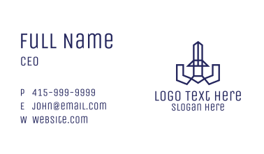 Geometric Abstract Sword Business Card