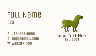 Horse Topiary Plant Business Card