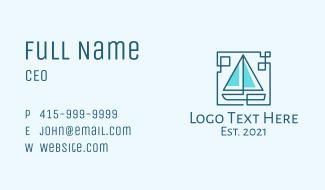 Sailboat Line Art Business Card