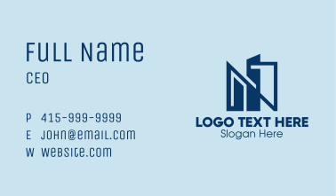 City Letter N Business Card