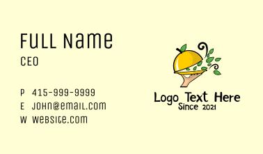 Healthy Citrus Restaurant  Business Card