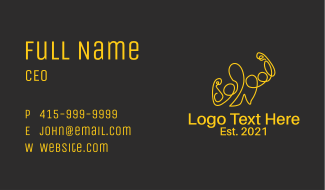Golden Fit Muscle Man  Business Card