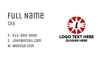 Comic Explosion Lettermark Business Card