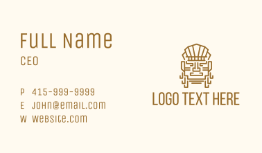 Mayan Warrior Head Business Card