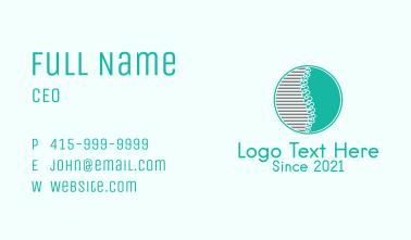 Chiropractic Emblem Business Card
