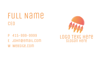 Tribal Feathers Business Card