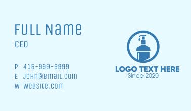 Blue Round Liquid Sanitizer Business Card
