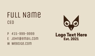 Owl Writer Pen Business Card