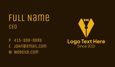 Tuxedo Pen Business Card