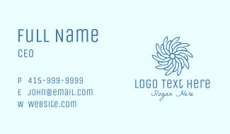 Wellness Blue Flower Business Card